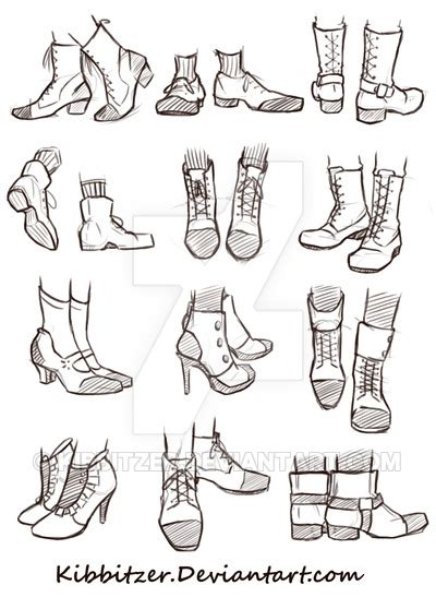 shoes reference sheet by kibbitzer on deviantart