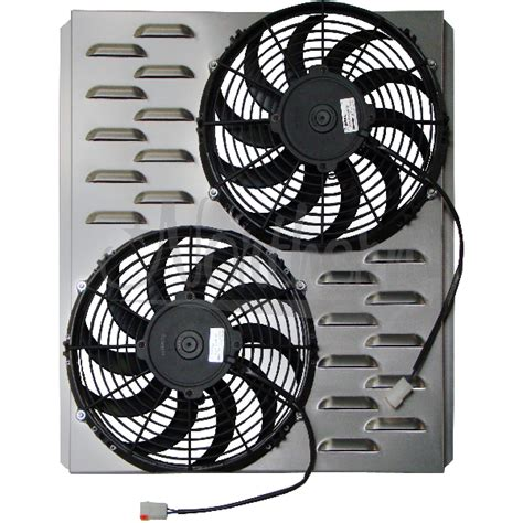 dual electric fans with shroud northern factory dual 11 quot electric fan shroud 18 1 8