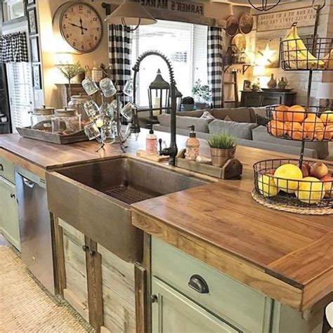 farm style sinks for kitchen free decoration butcher block island with farmhouse sink 8909
