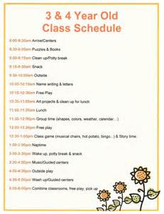 Child Care Daily Schedule Day Care