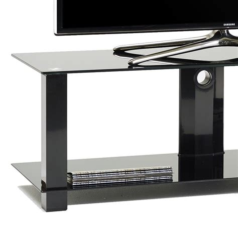 mobile metallo mobile porta tv in metallo e vetro con passacavi 120 cm klever