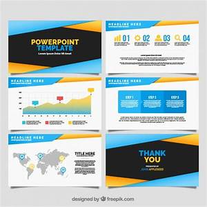 Modern Powerpoint Template With Infographic Data Vector