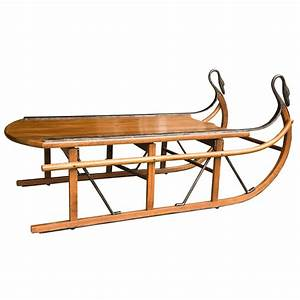 Unusual coffee table in the form of a sled at 1stdibs for Sled coffee table