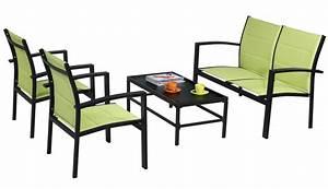 Salon De Jardin Metal : salon jardin metal table et fauteuil de jardin reference ~ Dailycaller-alerts.com Idées de Décoration