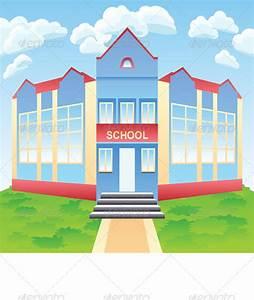 Vector Modern School Building | GraphicRiver