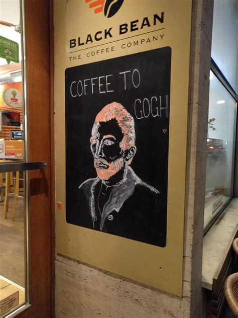 But there is a coffee house in there and look for the open sign to. It's never too late for coffee to Gogh! | Coffee travel, Coffee shop, Coffee company