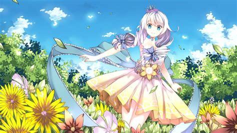 Anime Flower Wallpaper - anime guns girlz kiana kaslana dress flowers anime