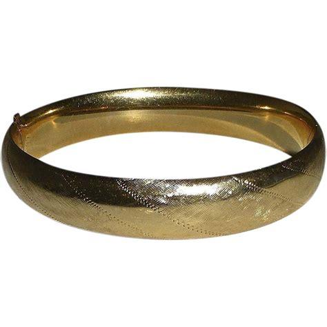 gold bracelet 14k 14k yellow gold engraved bangle bracelet from bejewelled