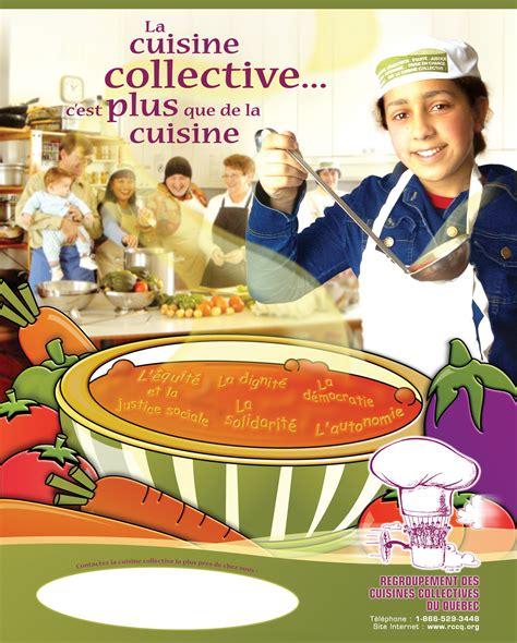la cuisine collective affiche promotionnelle sur les cuisines collectives les