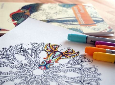 key gel pen coloring books for grown ups 101 how to color