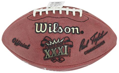 Reggie White And Brett Favre Signed Official Super Bowl Xxxi