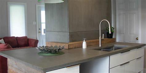 des cuisines en bois comptoirs en béton pour cuisine ou salle de bain