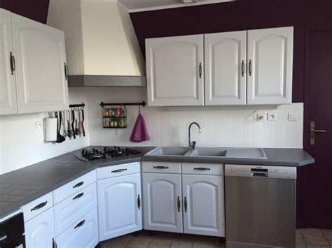 repeindre ma cuisine cuisine peinte en blanc chaios com