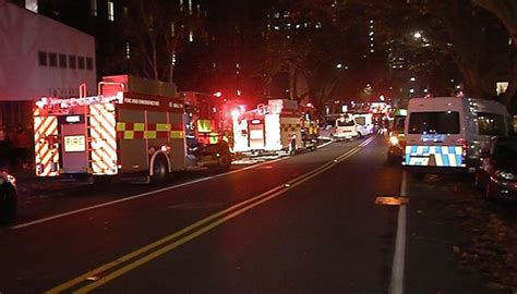 auckland police call   fire breaks   station