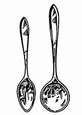 Spoon Coloring Soup Spoons Clipart Kitchen Cooking Utensils Clip Drawing Line Terms Printable Ladle Nails Shaped Cliparts Clipartpanda Library Pages sketch template