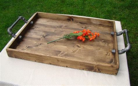 24x24 ottoman tray industrial style ottoman tray rustic ottoman tray by