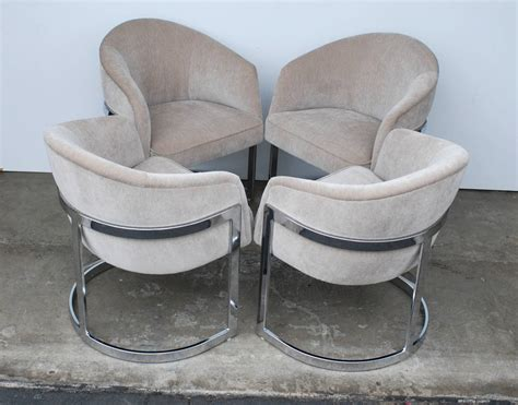 set of four milo baughman curved t back dining chairs image 3
