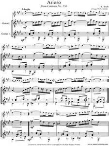 Cantata 156, 5th Concerto: Arioso: Guitar duet sheet music