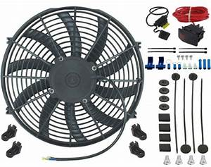 15 U0026quot  Inch Electric Auto Condenser Cooling Fan 12v Manual