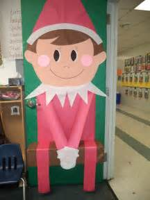 my elf on the shelf door i made this year 2013 saying