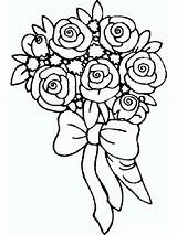 Coloring Rose Flower Flowers Printable Colors Mycoloring Recommended sketch template