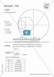 Oberfläche Kreis Berechnen : kreis test l sungen meinunterricht ~ Themetempest.com Abrechnung