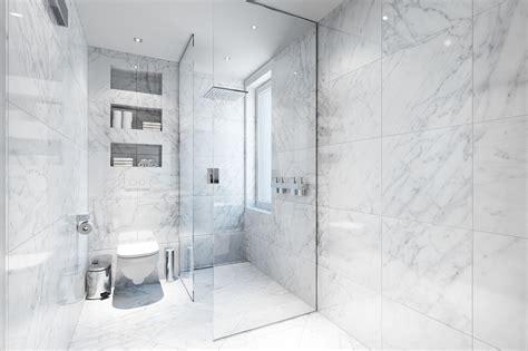 large bathroom mirror ideas white marble tiles sefa