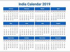 India Calendar 2019 printcalendarxyz