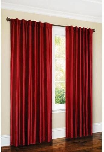 canopy faux silk thermal interlined curtain drapery panel