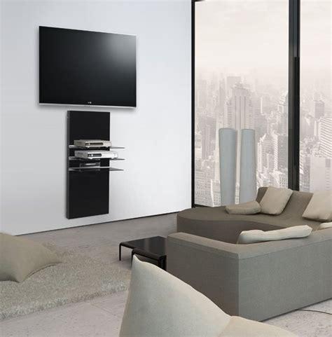 meuble hifi mural noir blanc 40 cm x 110 cm wall 11040