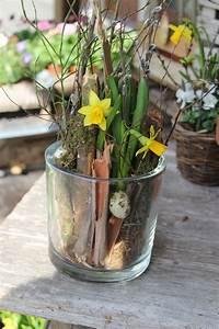 Bilder Im Glas : nat rliche osterdekoration mit narzisse in glasgef ss nat rlich dekorieren ideen ostern ~ Orissabook.com Haus und Dekorationen