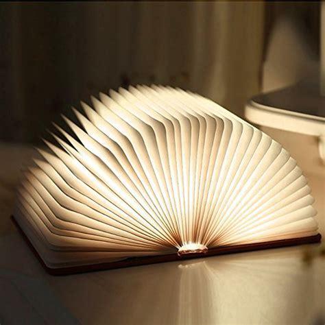 Wooden Foldable LED Book Light, Ledgle USB Rechargeable