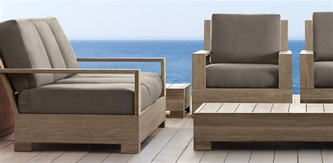 belvedere weathered teak restoration hardware