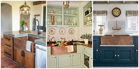 country kitchen sink ideas a copper farmhouse sink is the statement your 6143