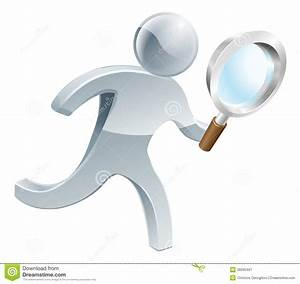 Magnifying Glass Silver Person Royalty Free Stock ...