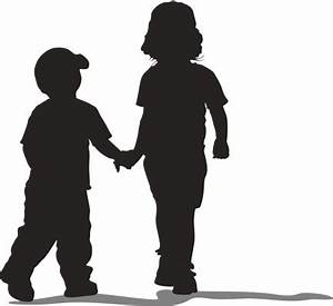 Silhouette Of Kids Holding Hands - ClipArt Best