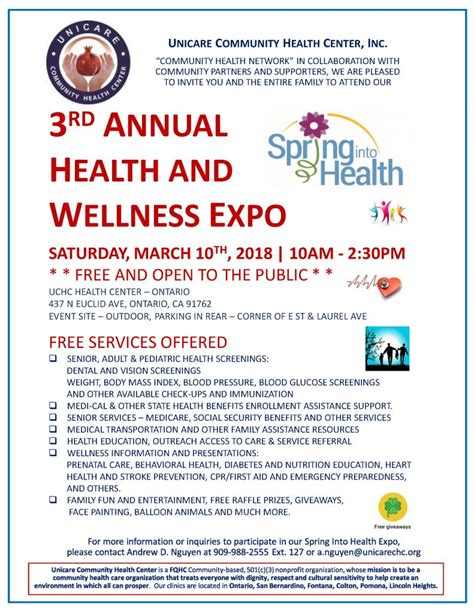3rd Annual Health And Wellness Expo  Inland Regional Center