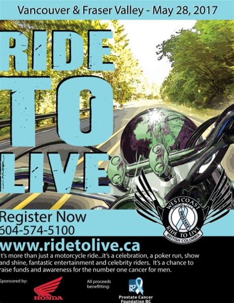 The Westcoast Motorcycle Ride To Live  Vancouver Daily