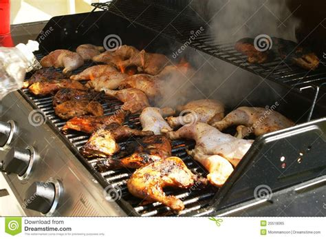 chicken cook time grill chicken smoking on grill royalty free stock photo image 20518065