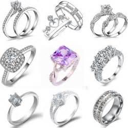engagement rings ebay engagement wedding ring rhinestone white gold plated rings jewelry ebay