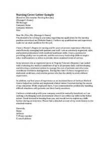 resume cover letter nursing nursing cover letter sles resume genius