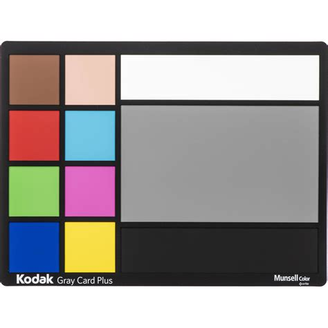 """It's a gray piece of card or plastic that you can use. Kodak Gray Card Plus (9x12"""") 1277144 B&H Photo Video"""