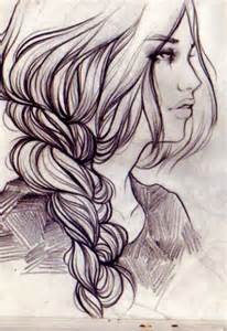 Braid Girl Hair Drawing Tumblr
