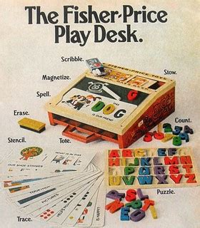 Fisher Price Box Play Desk by 1972 Vintage Fisher Price Play Desk Advertisement 1970