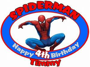 Spiderman Happy Birthday Custom Tshirt