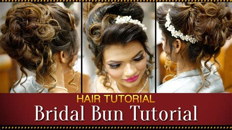 Step By Step Indian Bridal Bun Hairstyle Tutorial Video