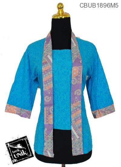 blus tanggung kutu  motif kembang ceplok blus lengan