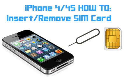 how to into an iphone iphone 4 4s how to insert remove a sim card