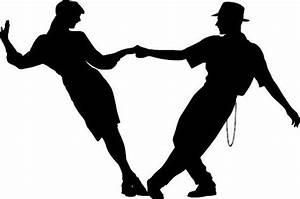 Couple swing dancing Silhouette die cut Vinyl decal sticker