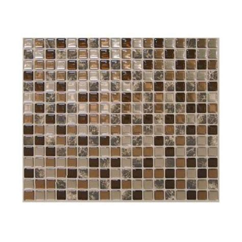 smart tiles peel and stick wall tile smart tiles minimo roca 9 64 in x 11 55 in peel and